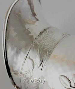 Esthétique Américain Plaqué Japanesque Style Grand Pichet D'eau Jug Antique C1870