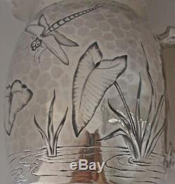Esthétique Chased Bug Libellule Étang Sterling Pitcher Eau Dominick Haff 1881