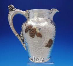 Esthétique Mixed Metals Gorham Sterling Silver Water Pitcher Applied Bird (#3665)