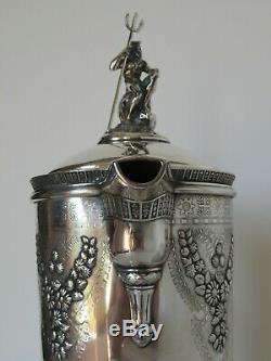 Exquis Meriden B. Pichet D'eau Company (le Meilleur Un Sur Ebay!) Avec Neptune