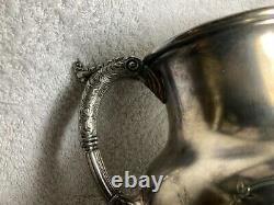 Fancy Antique Silver Plate Water Pitcher Reed & Barton Gravé Dragon Lion Bird