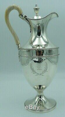 Georgian Argent Massif Vin / Claret / 1770 Water Jug Ou George III Aiguière