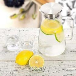 Glass Iced Tea Pitcher Chaleur Resistan Eau Chaude/froide Jus De Jus Carafe De Boisson