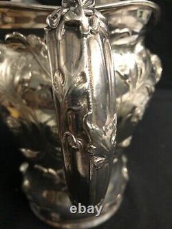Gorham Art Nouveau Sterling Water Pitcher Exceptionnel 40 Troy Oz