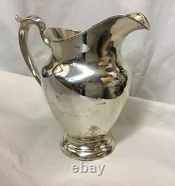Gorham Sterling Antique 182 4 1/2 Pt Pichet D'eau Vintage