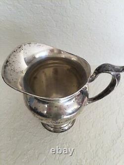 Gorham Sterling Antique 182 4 1/4 Pt Pichet D'eau Vintage