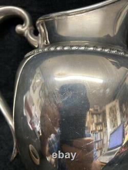 Gorham Sterling Pitcher Eau Forme Classique Chased Gadroon Bord