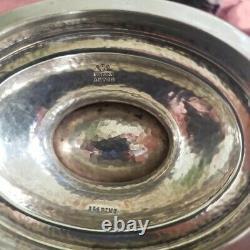 Gorham Sterling Silver Arts & Crafts Hammered Eau Pitcher 3 3/8 Pintes 1914