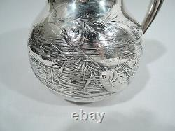 Gorham Water Pitcher 1150 Antique Japonesque American Sterling Silver