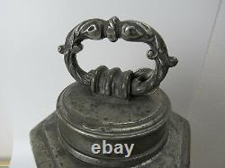 Grand Conteneur De Transport De Jupons Antique Pouvoir Pold Eau Conteneur Hexagonal