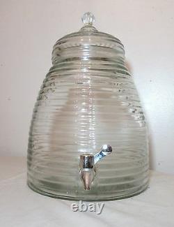 Grande Crue Vintage En Forme De Ruche En Forme D'eau De Verre Pichet Boire Bar Distributeur Jug