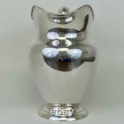 Grande Gorham #182 Bouche Large 4-1/4 Pinte Sterling Argent Français Cruche De Pichet D'eau