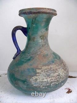 Huile De Verre Perse Antique Eau Jug Ancien Pitcher Romain Moyen-orient