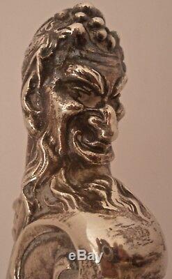 Immense Art Nouveau Figural Sterling Main Chased Grapevine Pitcher Eau Shreve Sf