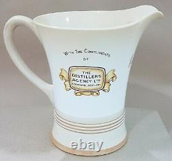 King George IV Whisky/whiskey Advertising Water Pichet/jug Inc Mouvement Musical