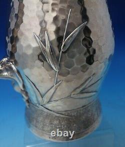 Lap Over Edge Hammered Par Tiffany Esthétique Sterling Silver Pitcher D'eau #5320