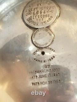 Magnifique Rogers Smith/jas Stimpson Pitcher D'eau Isolé De Plaque D'argent Brevetée