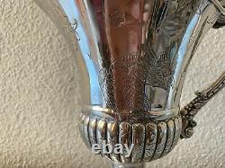 Magnifique Sterling Silver 925 Pitcher Jug Pour Vin Ou Eau