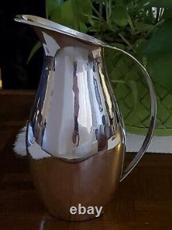Midcentury Modern Sterling Silver Water Pitcher Mexique