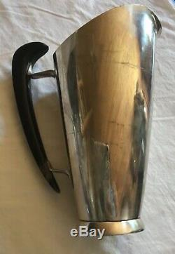 Milieu Du Siècle Moderniste Martini Ou Un Pichet D'eau En Argent Sterling 1956 Gorham MCM