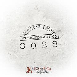 Néerlandais Revival Pitcher Eau Happy Village People International Silverplate 1920