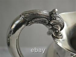 Pichet D'eau À Poignée De Dauphin Japonais En Argent Sterling (95 % D'argent) Fabriqué À La Main