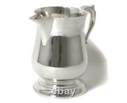 Pichet D'eau Argenté Sterling (cruche). Etats-unis, Atelier Poole Silver Company