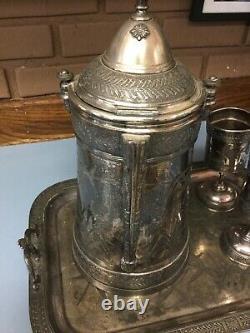 Pichet D'eau Isolant Argenté #1904 Plateau De Coupe Ensemble Reed - Barton Silverplate
