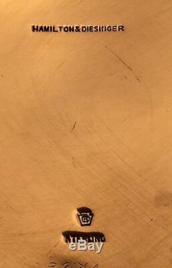 Pitcher Sterling Eau Avec Décoration Florale Par Hamilton & Diesinger