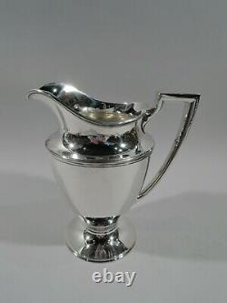 Pitcher Tiffany Eau 18181 Antique Modern American Sterling Silver