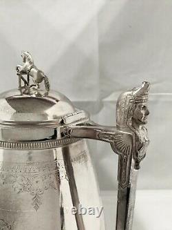 Plaque Argent Antique D'eau Pitcher