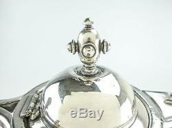 Plaque Argent Antique Pitcher Glace D'eau Isolé Figural Femme Wilcox