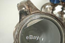 Plaque Argent Antique Reed & Barton Basculement Pitcher Eau Avec Goblet Cooler Jug