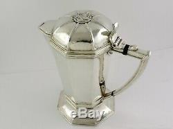 Ramsden & Carr Silver Flagon Londres 1908 Bière Jug, Vin Aiguière Ou Pitcher Eau