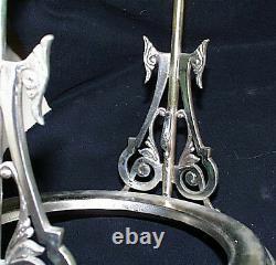 Rare C1880 Racine Silverplate Co Or Lavé Argent Plaqué Pichet D'eau
