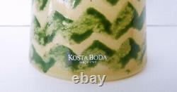 Rare Kjell Engman Pour Kosta Boda Can Rio Zig Zag Pitcher Vase À Eau Jug Wow