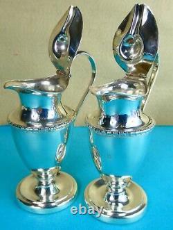 Rare Paire Géorgienne Sterling Silver Wine & Water Jugs Robert Gainsford 1809
