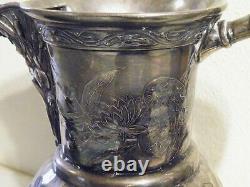 Rare Reed & Barton Figural Silverplate Water Pitcher & Sugar Bowl # 177 Freeship