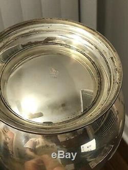 Rare Vintage Fisher Sterling Silver Water Pitcher # 2026 8 1/2 Grand Pas Monogram
