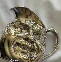 Reed & Barton Sunny Jim Double Face Pitcher D'eau #5640 Vintage Plaque D'argent