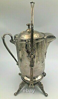 Reed & Barton Tilting Ice Water Pitcher Sur Frame Silver Plaqué 1872