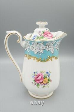 Royal Albert Enchantment Hot Water Pot Jug Pitcher Et LID Free USA Shipping