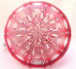 Saint St Louis Énorme Pichet D'eau Ruby Coupe De Cristal Plaque D'argent Antique 19ème