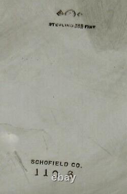 Schofield Sterling Water Pitcher C1925 Art Déco