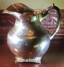 Silver Water Pitcher 850g Marqué Liverpool Eagle 2 Sterling. 925 Mbr Mexique Df