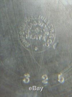 Simpson Antique Hall & Miller Quadruple Plate & Porcelaine Pichet Eau