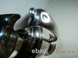 Sterling Antique Gorham Pichet Silver Water 4,25 Pintes # 621 Aucun Monogramme 800 Gr