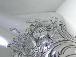 Sterling Gorham Pitcher Eau Avec Motif Floral Et Parchemin Pas Mono Mint Cond