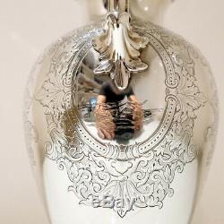 Sterling Silver Hot Water Jug Londres 1860 Edward Et John Barnard