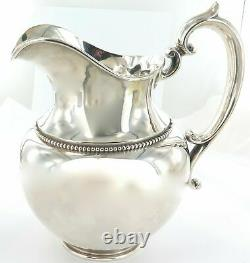 Superbe / Énorme / Vintage USA Shreve Crump & Low Sterling Silver Water Pitcher